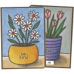 Daisy Flower Pot Design Be Kind Journal Notebook (160 Lined Pages) from Primitives by Kathy