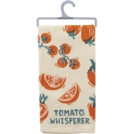 Tomato Whisperer Cotton Kitchen Dish Towel 20x26 from Primitives by Kathy