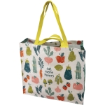 Vegetable Print Design Eat More Plants Double Sided Shopping Tote Bag from Primitives by Kathy