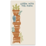 Stacked Flower Pots Design Grow With The Flow Large Paper Notepad (60 Pages) from Primitives by Kathy