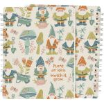 Gnomes & Mushrooms Plant An Idea Watch It Grow Spiral Notebook (120 Lined Pages) from Primitives by Kathy