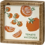 Tomato Whisperer Decorative Inset Wooden Box Sign 5x5 from Primitives by Kathy