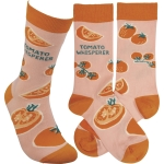 Tomato Whisperer Colorfully Printed Cotton Socks from Primitives by Kathy