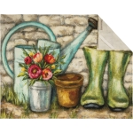 Colorful Gardener Themed Cotton Kitchen Dish Towel 20x26 from Primitives by Kathy