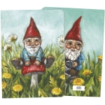 Gnome On Mushroom Journal Notebook (160 Lined Pages) from Primitives by Kathy