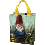 Colorful Gnome In Flower Field Double Sided Daily Tote Bag from Primitives by Kathy