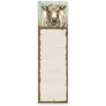 Shaggy Cow In Field Magnetic Paper List Notepad (60 Pages) from Primitives by Kathy