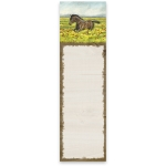 Horse In Flower Field Magnetic Paper List Notepad (60 Pages) from Primitives by Kathy