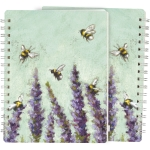 Lavender Flowers & Bumblebees Spiral Notebook (120 Lined Pages) from Primitives by Kathy