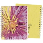 Colorful Pink Floral Design Spiral Notebook (120 Lined Pages) from Primitives by Kathy