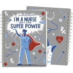 I'm A Nurse What's Your Superpower? Double Sided Spiral Notebook (120 Lined Pages) from Primitives by Kathy