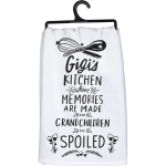 Gigi's Kitchen Where Memories Are Made Cotto Dish Towel 28x28 from Primitives by Kathy