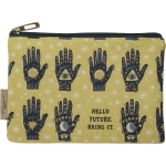Mystical Block Print Design Hello Future Bring It Zipper Pouch Handbag from Primitives by Kathy