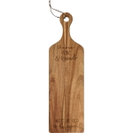 Chesse Wine And Friends Must Be Old To Be Good Wooden Cutting Board 19.5 Inch from Primitives by Kathy