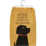 Dog Lover All Food Must Go To The Lab For Testing Cotton Kitchen Dish Towel 28x28 from Primitives by Kathy