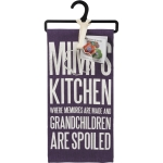 Mimi's Kitchen Where Grandchildren Are Spoiled Dish Towel & Flower Shaped Cookie Cutter Set from Primitives by Kathy
