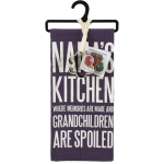 Nana's Kitchen Where Memories Are Made Dish Towel & Flower Shaped Cookie Cutter Set from Primitives by Kathy