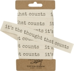 It's The Thought That Counts Cotton Gift Ribbon 10 Yards from Primitives by Kathy