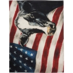 Patriotic American Flag & Dairy Cow Cotton Kitchen Dish Towel 20x26 from Primitives by Kathy