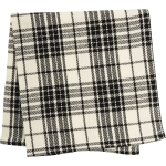 Black & White Plaid Cotton Table Napkin 15x15 from Primitives by Kathy