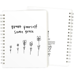 Grant Yourself Some Grace Spiral Notebook (120 Lined Pages) from Primitives by Kathy