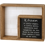 Kitchen A Little Sugar A Little Spice Home So Nice Decorative Inset Wooden Box Sign 9 Inch from Primitives by Kathy