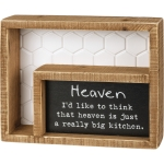 Heaven Is Just A Really Big Kitchen Decorative Double Inset Wooden Box Sign 7.5 Inch from Primitives by Kathy