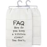 FAQ How Do You Keep A Kitchen Clean Cotton Dish Towel 28x28 from Primitives by Kathy