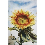 Colorful Sunflower Print Cotton Kitchen Dish Towel 18x28 from Primitives by Kathy
