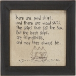 The Best Ships Are Friendships Wall Décor Sign from Primitives by Kathy