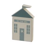 Beach House Shaped By The Sea Decorative Wooden Block Sign 4.25x7 from Primitives by Kathy