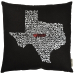 State of Texas Themed Decorative Black & White Throw Pillow 18x18  from Primitives by Kathy