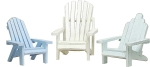 Set of Three Pastel Colors Beach Chair Figurines from Primitives by Kathy