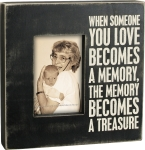 The Memory Becomes A Treasure Picture Photo Frame (Holds 4x6 Photo) from Primitives by Kathy
