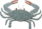 Wooden Blue Crab Wall Décor by Artist Mechelle Clark from Primitives by Kathy