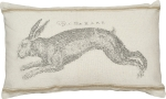 The Hare Striped Accent Decorative Cotton Throw Pillow 25x15 from Primitives by Kathy