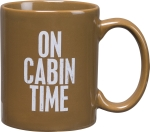 On Cabin Time Stoneware Coffee Mug 20 Oz from Primitives by Kathy