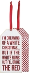 Set of 6 I'm Dreaming Of A White Christmas Wooden Wine Bottle Tags from Primitives by Kathy