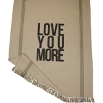 Love You More Striped Design Cotton & Polyester Throw Blanket 50x60 from Primitives by Kathy