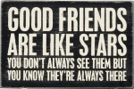 Good Friends Are Like Stars Wooden Postcard 4x6 from Primitives by Kathy