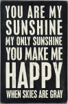 You Are My Sunshine Wooden Postcard 4x6 from Primitives by Kathy