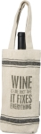 Wine Is Like Duct Tape Cotton Wine Bottle Tote Bag from Primitives by Kathy
