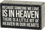 Heaven In Our Hearts Decorative Wooden Box Sign from Primitives by Kathy
