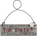 Be Merry Hanging Christmas Ornament from Primitives by Kathy