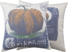 Gordon's Pumpkin Seeds Decorative Cotton Throw Pillow 16x16 from Primitives by Kathy
