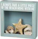 I Always Take A Little Piece Of The Beach Home With Me Seashell Holder Box from Primitives by Kathy