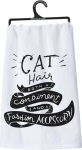 Cat Hair Both A Condiment & Fashion Accessory Dish Towel from Primitives by Kath