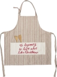It's Beginning To Look A Lot Like Christmas Cotton & Polyester Apron from Primitives by Kathy