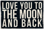 Love You To The Moon & Back Wooden Postcard 6x4 from Primitives by Kathy