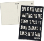 Life Is About Learning To Dance In The Rain Wooden Postcard 4x6 from Primitives by Kathy